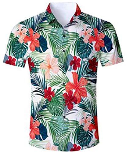 Idgreatim Herren Hemd Männers Jungen Kurzarm Button Down Printed Splash Ink Lustig entworfene Herren Blusen