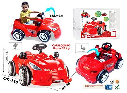 StrMy MACCHINA A PEDALI per bambini auto rossa...