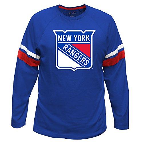 Profile Big & Tall NHL New York Rangers Lang Arm Sleeve Tee mit doppelter Arm Streifen, groß, Royal