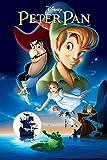 Poster formato A4 del film 'Peter Pan' di Walt Disney, con scritta in lingua inglese 'Disney Peter Pan'