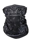 Scaldacollo tubolare, foulard, sciarpa multifunzione Schwarz Weiss Paisley Universal