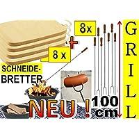 8x Set Barbecue barbecue tagliere in legno