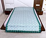 IndiWeaves 3 Layered Quilted Super Soft Cotton Printed Premium Quality Single Bed Dohar/Top-Sheet/AC Blanket_(135X230CM)(Pack of 2 Piece)_Green