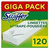 Swiffer - Recharges Lingettes Sèches pour Balai Attrape-Poussière - 120 lingettes...