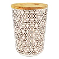 Ecoware Canister, Brown/White, 11 x 15 cm, BD-BF-39