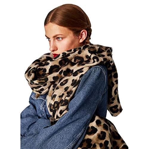 MXZ Schal Für Frauen, Damenmode Lange Super Soft Leopard Print Muster Winter Warme Decke Long Square Schals Tücher Wraps