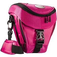 Mantona Premium - Funda para cámara reflex (correa para hombro, cierre de cremallera y clip), color fucsia