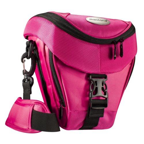 Mantona Colt Kameratasche (Universaltasche inkl. Schnellzugriff, Staubschutz, Tragegurt und Zubehörfach, geeignet für DSLR- und...