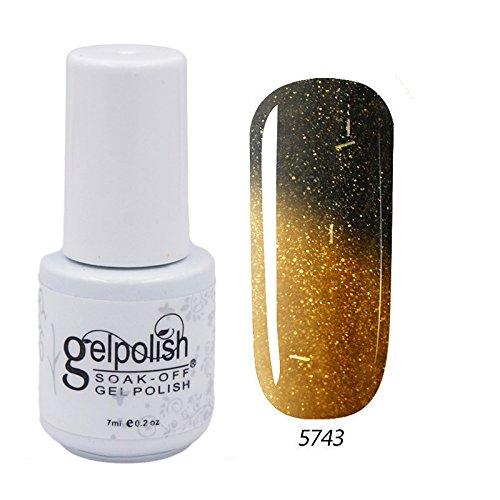 Eleacc Chameleon Thermolack, Nagelgel, Soak-Off Gel, UV- LED-Nagelgel, Basis- und Decklack, - Halloween-nail-polish-strips