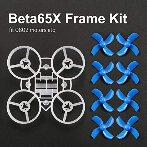 BETAFPV Beta65X 2S Whoop Frame Kit with 2 Sets 31mm 4-Blade Props 1.0mm Shaft Blue for 65mm 2S Whoop Drone Like Beta65X BNF -