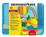 Eberhard Faber 572010 - Plastilin-Knete, Kunststoffbox 10er