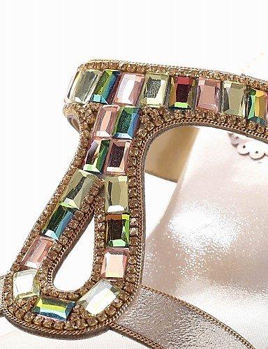 UWSZZ Die Sandalen elegante Comfort schuhe Donna-Sandali Ciabatte-Tempo/Frei/Arbeit/Formale-Tacchi/Gurt/mit Gürtel/D'Orsay/Aperta-Quadrato - golden