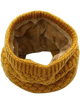 SMARTLADY Invierno Bufanda de punto Cuello redondo para Mujer o Hombre