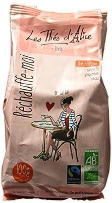 Les Thés d'Alice Réchauffe-Moi Thé Noir/Cannelle/Gingembre/Cacao 100 g - Lot de 3