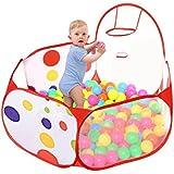 Taotree Beweglicher Hexagon Kinder Baby Bällebad Ballpool Pool Bällepool Drinnen und draußen , Kinder Spielzeug Spiel Zelt mit Rot Reißverschluss Aufbewahrungstasche für Kindergeschenke