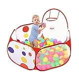 Taotree Beweglicher Hexagon Kinder Baby Bällebad Ballpool Pool Bällepool Drinnen und draußen , Kinder Spielzeug Spiel Zelt mit Rot Reißverschluss Aufbewahrungstasche für Kindergeschenke (Etwa 1.5M, Basketball Pool)