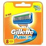Gillette Fusion Rasierklingen (Für Männer) 8Stück
