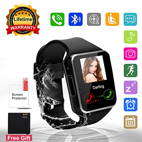 Bluetooth-Smart-Watch-Phone-Touchscreen-Armbanduhr-Handy-uhr-Sport-Smartwatch-Uhr-Wasserdicht-Fitness-Intelligente-Smart-Uhr-Telefon-Kompatible-IOS-Andriod-Iphone-Smartphones-fr-Herren-Damen