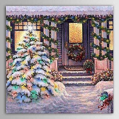 F.Latoo natale pittura inverno silenziosa notte nevica vacanza dipinto a
