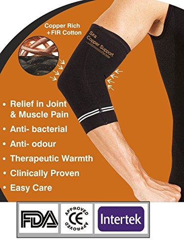 Elbow Brace Compression Support Sleeves for Arthritis Golfers Workouts Tennis Size (Uh 10cm Bh 8cm Length 22cm) Small Stock Clearance Sale (Elbow Compression Sleeve Kupfer)