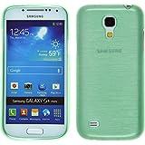 PhoneNatic Case für Samsung Galaxy S4 Mini Hülle Silikon grün brushed Cover Galaxy S4 Mini Tasche + 2 Schutzfolien