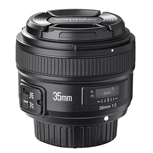 YONGNUO YN35mm F2N f 2.0 Weitwinkel AF/MF Fixfokus Objektiv für Nikon D7200 D7100 D7000 D5300 D5100 D3300 D3200 D3100 D800 D600 D300 D300S D90 D5500 D3400 D500 DSLR-Kameras
