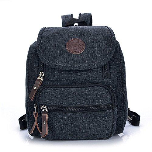 Gebrauch Damen Rucksack und Schultertasche Schwarz (Nehmen Sie Ihre Canvas Taschen)