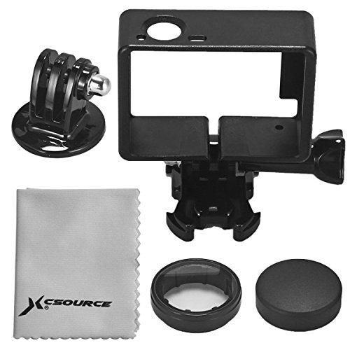 Protettivo Cornice Frame Laterale + Protettiva Lens + Treppiedi Adattatore Per GoPro Hero 3 3+ 4 OS253