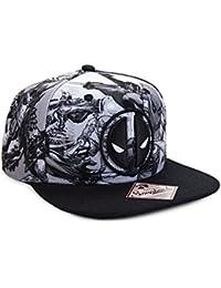 Marvel Deadpool Symbol Sublimated Snapback Baseball Cap