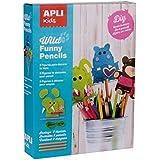 Niños Apli Crear su propio juego de lápiz primeros de fieltro (Multi-Color)