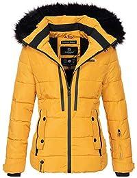 Marikoo warme Damen Winter Jacke Winterjacke Steppjacke gefüttert Kunstfell  B682 31848f15fb
