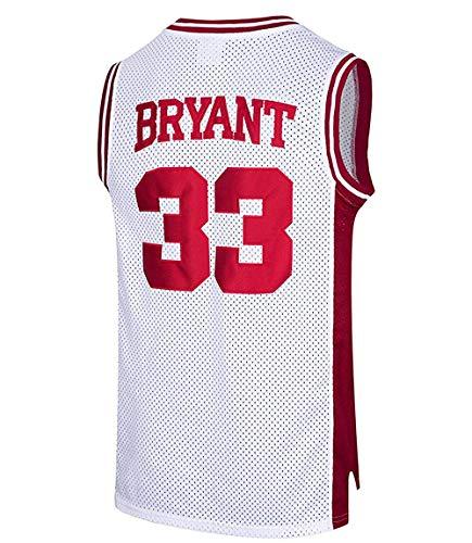 Collee Basketball Trikot Herren Basketball Trikot Kobe Bryant Nr.33 Lower Merion High School Jersey Basketballtrikot für Herren Jungen Männer Fans S-XXXL (Basketball-jersey-high-school)