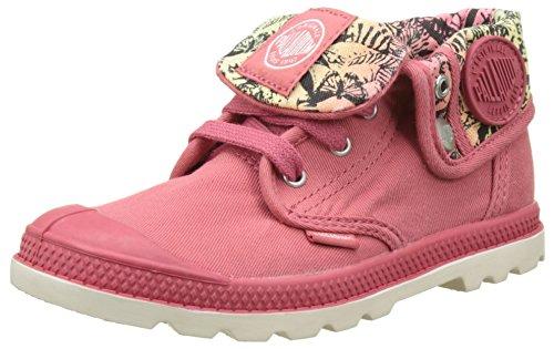 Palladium Baggy Low Zip Lp, Sneakers Basses Mixte Enfant Rose (Garnet Rose/jungle Print)