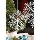 VR CREATIVES Christmas Tree Decoration Hanging Snow Flake Pack of 12