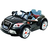 Kid's Ride On Audi TT Black, Reachargeable Battery, 4 Ways Remote Control, MP3 Audio Input