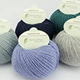 Pascuali Strickwolle Cashmere Lace, 170 m, 25g, Wolle Schnee 501