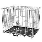 vidaXL Metall Hundekäfig Drahtkäfig Hunde Transportbox Transportkäfig faltbar L