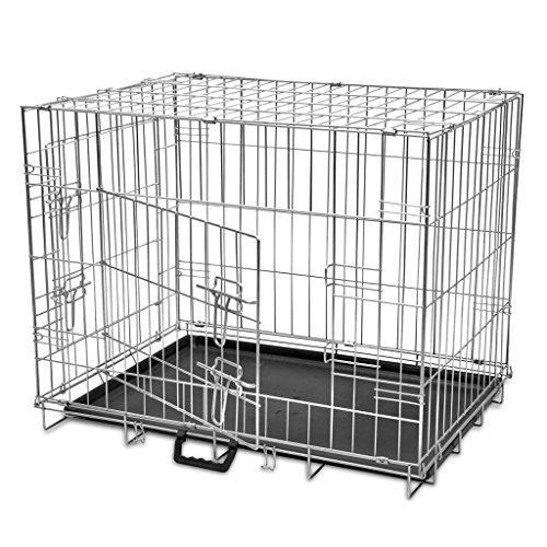 vidaXL Metall Hundekäfig Drahtkäfig Hundebox Transportbox Transportkäfig faltbar L