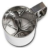 Queta Mehl Filter, Küche liefert Edelstahl Hand Mehlsieb Sieb Mesh Rund Cup Backen Werkzeug