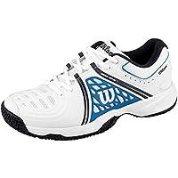 Wilson Homme Chaussures de Tennis, Idéal pour les joueurs de tous niveaux, Pour tout type de terrain, TOUR VISION V, Tissu Synthétique