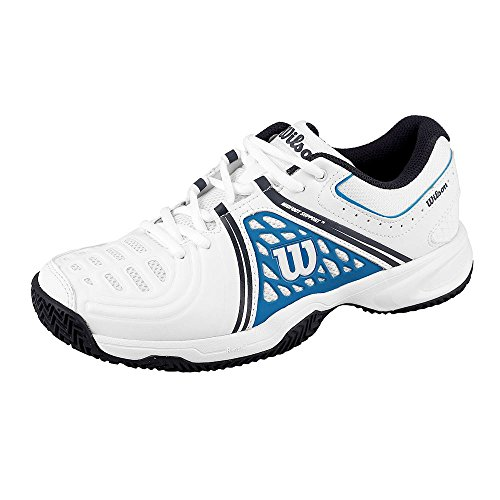 WILSON TOUR VISION V WH/BL/NY 9,   Tennisschuhe, Weiß (White/Methyl Blue/Navy), 43 1/3 EU (9 UK)