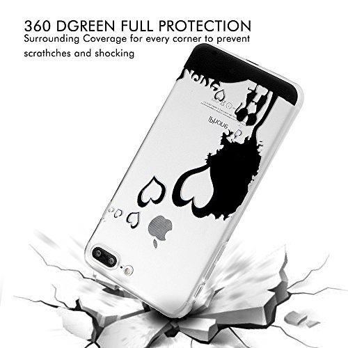 "iPhone 7 Plus Hülle Case YOKIRIN TPU Silikon Handyhülle Soft Crystal Clear Case Backcover Tasche Silikonhülle Handy Schutzhülle für iPhone 7 Plus (5.5"")Muster:Paare Paare"