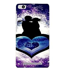 PrintVisa Romantic Couple Design Art 3D Hard Polycarbonate Designer Back Case Cover for Xiaomi Redmi 3S