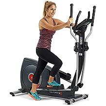 BH Quartz II bicicleta elíptica. Fitness Apps. 14 Kg sistema inercial. Negra.