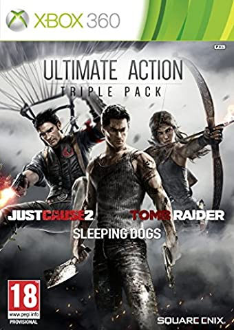 Ultimate Action Triple Pack : Just cause 2 + Sleeping dogs + Tomb raider [import anglais]