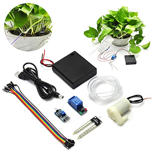 Gikfun Bodenfeuchtigkeitssensor-Set, automatisches Bewässerungssystem mit Mini-Wasserpumpe für Arduino Garten-DIY-Kit EK1915U