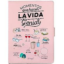 """Mr Wonderful MRTAB004 - Funda libro para Tablet de 10.1"""", color rosa"""