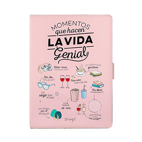 """Mr. Wonderful MRTAB004 - Funda Libro para Tablet DE 10.1"""", Color Rosa"""