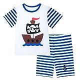 Mombebe Pigiama Bambino Ragazzo Dinosauro Estate Abbigliamento Set (Pirata, 3 anni)