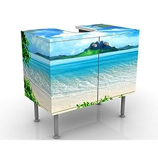 Design Vanity Dream Of Holidays 60x55x35cm, small, 60cm wide, adjustable, wash basin, vanity unit, washstand, bathroom cupboard, base unit, bathroom, narrow, flat